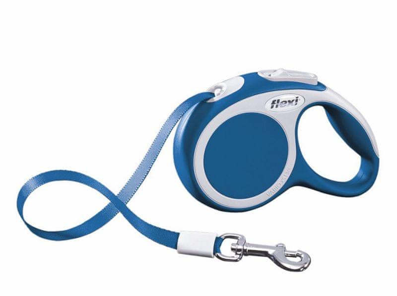 Flexi vodítko Vario XS pásek 3m/12kg modré