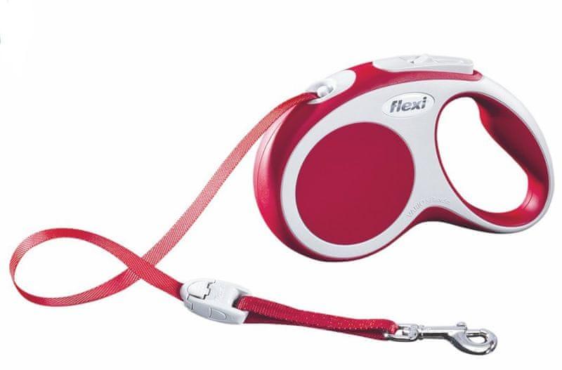 Flexi vodítko Vario S pásek 5m/15kg červené