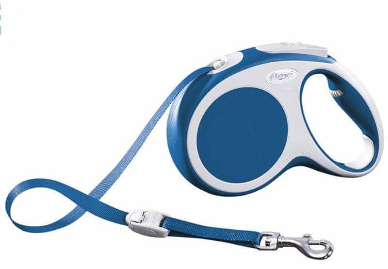 Flexi vodítko Vario M pásek 5m/25kg modré