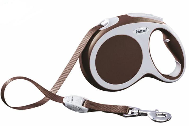 Flexi vodítko Vario L pásek 5m/60kg hnědé