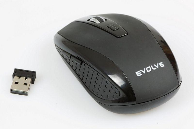 Evolveo WM-242B bezdrátová myš, 1600DPI, 2.4GHz, Nano příjímač, USB