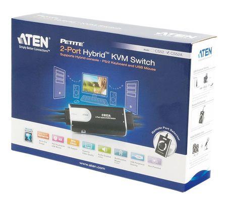 Aten KVM sikalo 2:1 mini VGA/PS2/USB/Avdio (CS52A-AT)