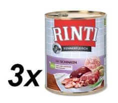 RINTI mokra hrana za pse, šunka, 3 x 800 g