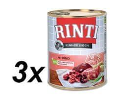 RINTI mokra hrana za pse, govedina, 3 x 800 g