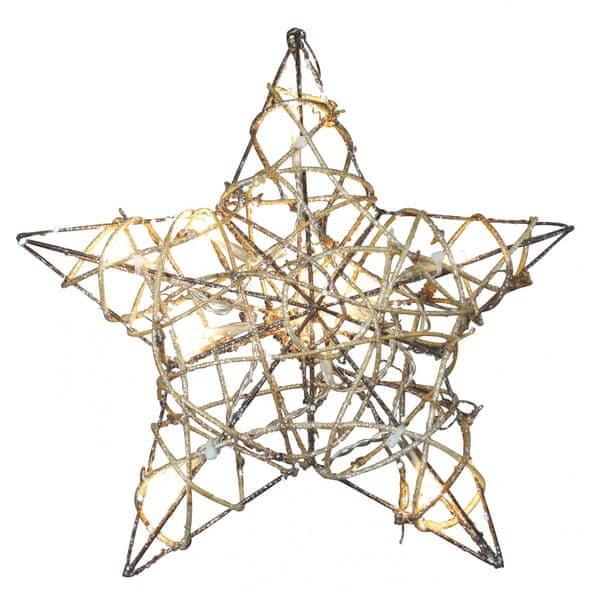 Emos 10 LED vánoční osvětlení hvězda, teplá bílá
