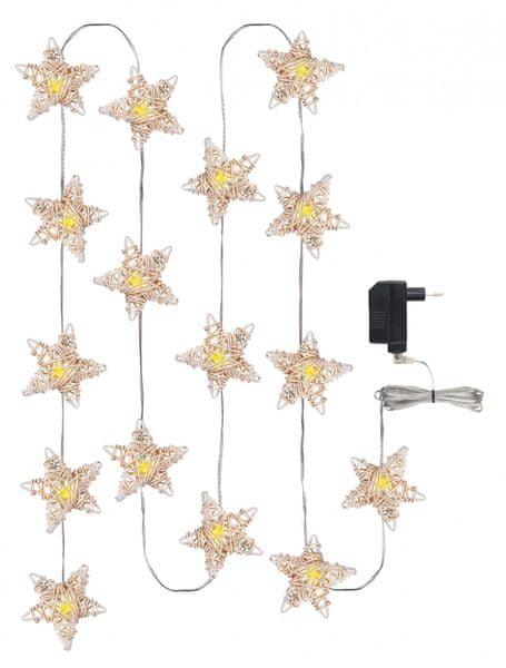 Emos 16 LED vánoční osvětlení hvězda 3 m