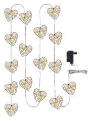 Emos lučke 16 LED IP20 WW, srce, 3 m