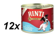 Rinti Gold konzerva drůbeží srdíčka 12 x 185 g
