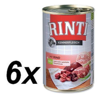 RINTI mokra hrana za pse, govedina, 6 x 400 g