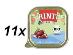 RINTI BIO mokra hrana za pse, perutnina, 11 x 150 g