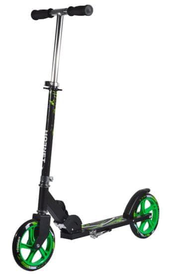 Hudora Scooter Hornet skiro, črno-zelen