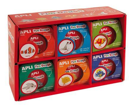 Modelovací hmota Apli Fun Dough 12 sad, 6 různých motivů