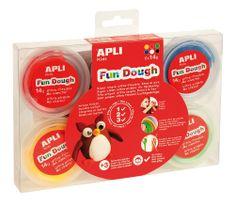 Modelovací hmota Apli Fun Dough/ 6 barev á 14 gr