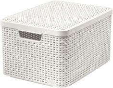 Curver škatla za shranjevanje s pokrovom, ratan, L