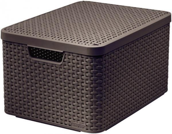 Curver Rattan Style box L tm. hnědý