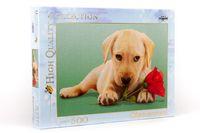 Clementoni Puzzle šteniatko s ružou, 500 dielikov