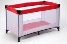 BC Home prenosna postelja, sivo-rdeča