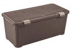 Curver škatla za shranjevanje Rattan Style 72 l