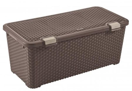 CURVER Úložný Rattan Style box 72L tmavo hnedá