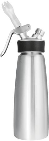 iSi steklenica za stepanje smetane Cream Profi, 0,5 l, srebrna