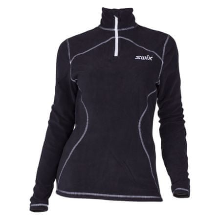 Swix pulover Adventure Fleece, ženski, črn, XL