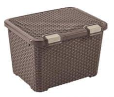 Curver škatla za shranjevanje Rattan Style 43 l, rjava
