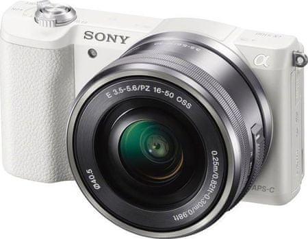 SONY Alpha 5100L + 16-50mm Digitális fényképezőgép, Fehér
