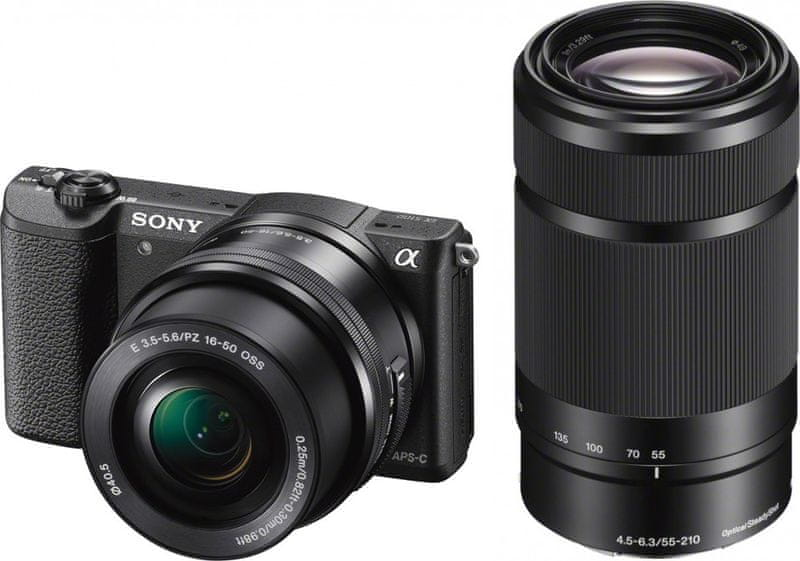 Sony Alpha a5100 + 16-50 mm + 55-210 mm Black (ILCE5100YB)