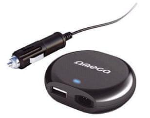 Omega Univerzální adaptér 90W slim pro notebook, CL napájení + USB port