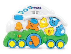 Weina Chodítko s hracím pultem Vláček modrá - zánovní