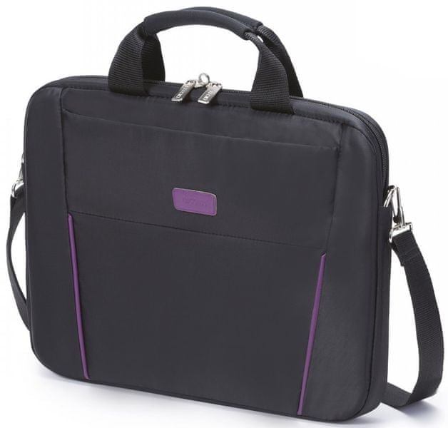 Dicota Slim Case BASE 14-15.6 black/purple