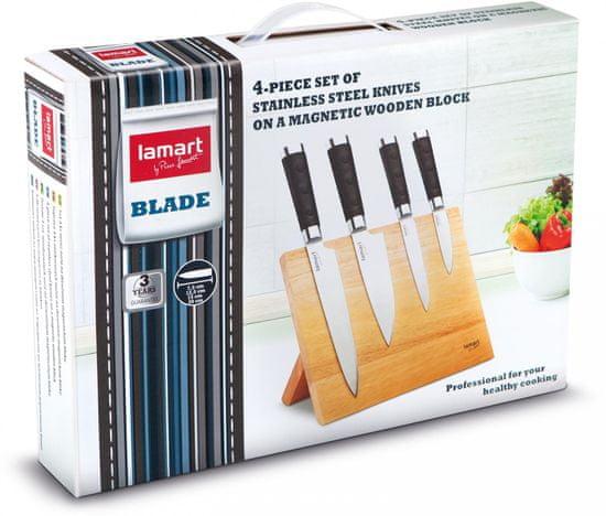 Lamart set 4-ih nožev z blokom LT2026