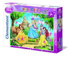 Clementoni Puzzle 24 hercegnők és lovak