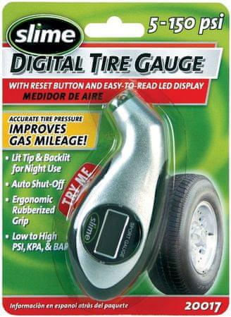 Slime digitalni merilec pritiska za avto ventil