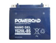 Yucell Poweroad akumulator za motor YG20L-BS gel (12V 20Ah, 175 x 87 x 155)