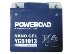 Poweroad akumulator za motor YG51913 gel (12V 21Ah, 183 x 79 x 171)