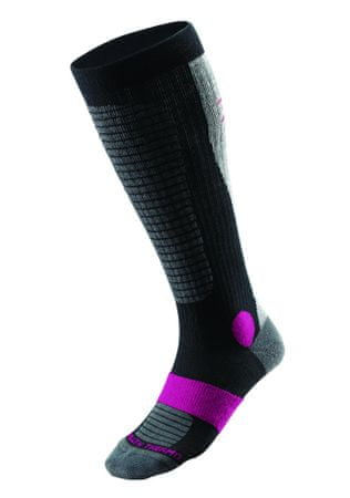 Mizuno skarpetki narciarskie Breath Thermo Sock Heavy Ski W Black/Raspberry XL