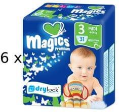 Magics Pieluszki Premium Midi Megapack 186 szt.