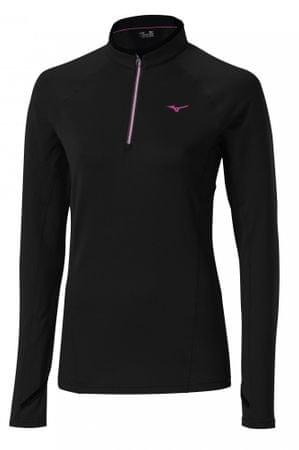 Mizuno majica z dolgimi rokavi WarmaLite Top, ženska, črna, XS
