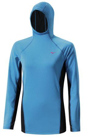 Mizuno majica z dolgimi rokavi WarmaLite, ženska, modra, M