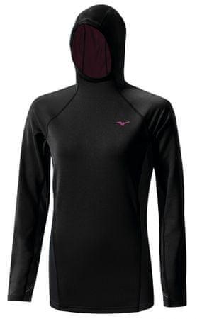 Mizuno majica z dolgimi rokavi WarmaLite, ženska, črna, S