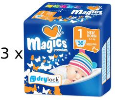 Magics Premium Newborn Jumbopack - 108ks