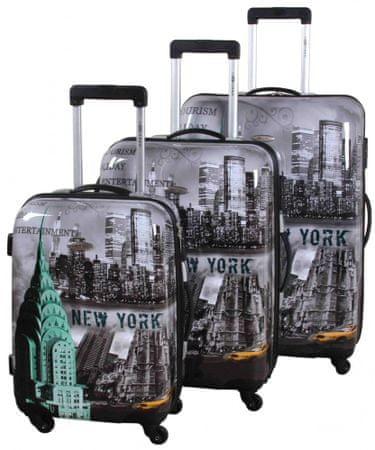 Leonardo New York set cestovních kufrů 3 ks
