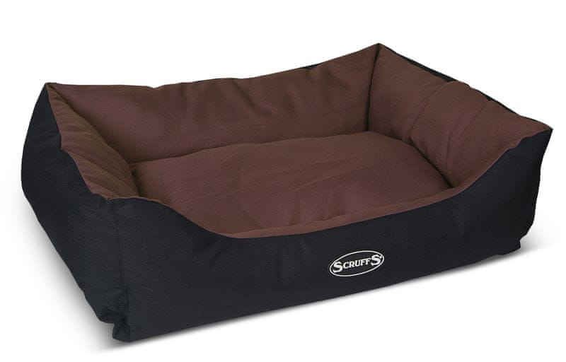 Scruffs Expedition Box Bed čokoládový vel. L