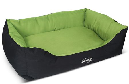 Scruffs Expedition Box Bed limetkový veľ. XL