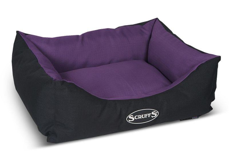 Scruffs Expedition Box Bed švestkový vel. S
