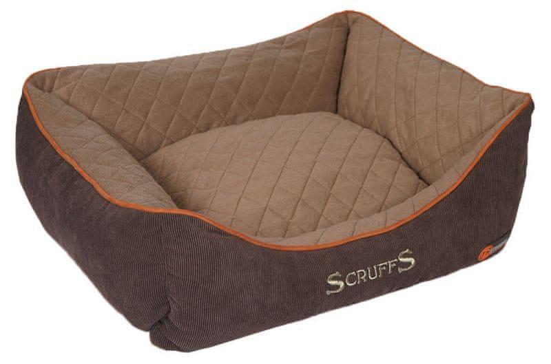 Scruffs Thermal Box Bed hnědý vel. S