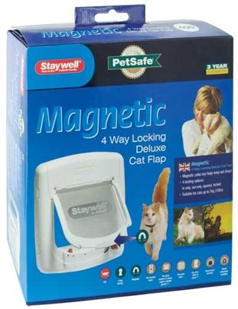 PetSafe bela magnetna vrata za mačke 400 - Odprta embalaža