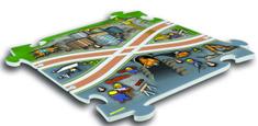 MEHANO podlaga za železniško progo Gradbišče, puzzle X