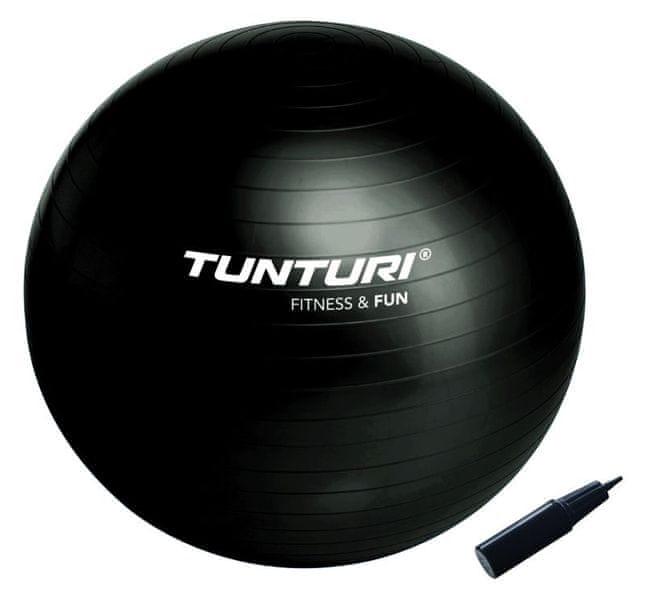 Tunturi Gymnastický míč 65cm s pumpičkou černý